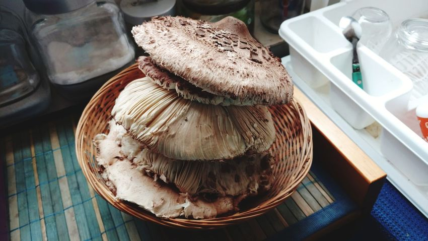 EyeEm Selects mushrooms in kitchen Food And Drink Indoors  Freshness No People Food Day Healthy Eating Close-up High Angle View Agriculture Nature Mushrooms Growing Wild Mushrooms Kitchen Storytelling Karst At Home The Still Life Photographer - 2018 EyeEm Awards
