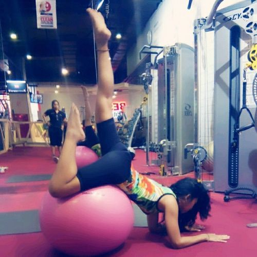 Atthegym Playingwiththeball Gymnastic Sports Healthyliving Mylifestyle
