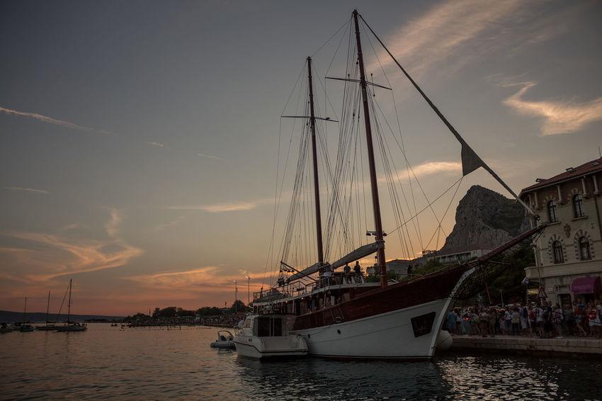 Omis Omis Croatia Sea Croatia ♡ Nature Water Croatiafulloflife Croatia_photography Canon700D Sky Ship Ships⚓️⛵️🚢