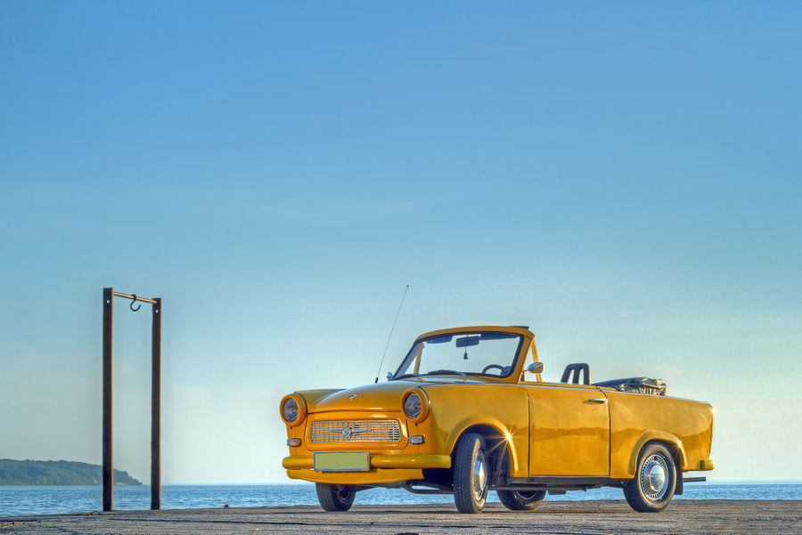 Clear Sky Day Nature No People Outdoors Sea Sky Trabant601 Transportation Water Yellow