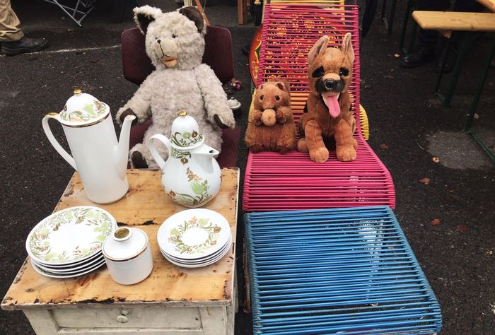 Tea party Antique Stuffed Toy Teddy Bear Vintage Market EyeEm Gallery
