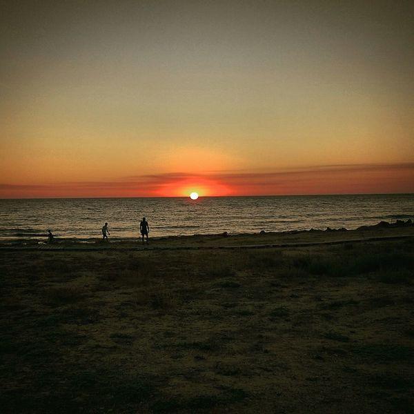 Sunset Beach Sea Summer Views Summer2015