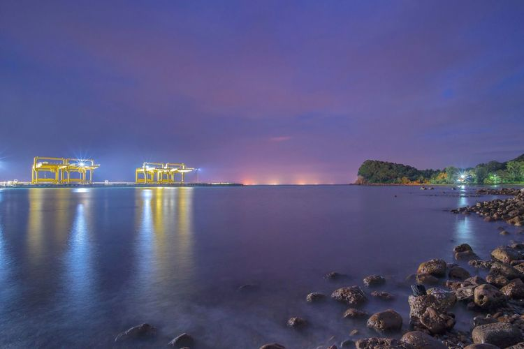 Night port Money Adult Logistic Light Sea Boats Night Port Water Sky Reflection Nature No People Cloud - Sky Illuminated Tranquility Scenics - Nature Beauty In Nature Tranquil Scene Outdoors Architecture Waterfront Transportation Built Structure Land My Best Travel Photo