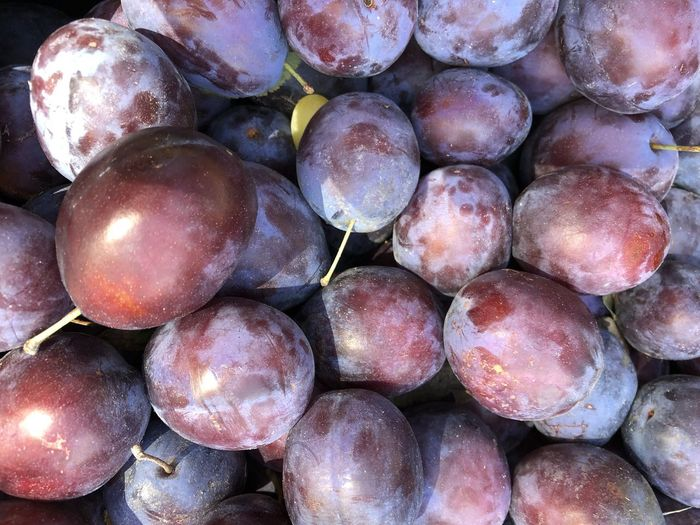 Healthy Eating Wellbeing Food And Drink Food Fruit Freshness Full Frame Backgrounds Still Life Large Group Of Objects Close-up Market Abundance No People For Sale Retail  Day Market Stall High Angle View Group Outdoors Ripe Purple