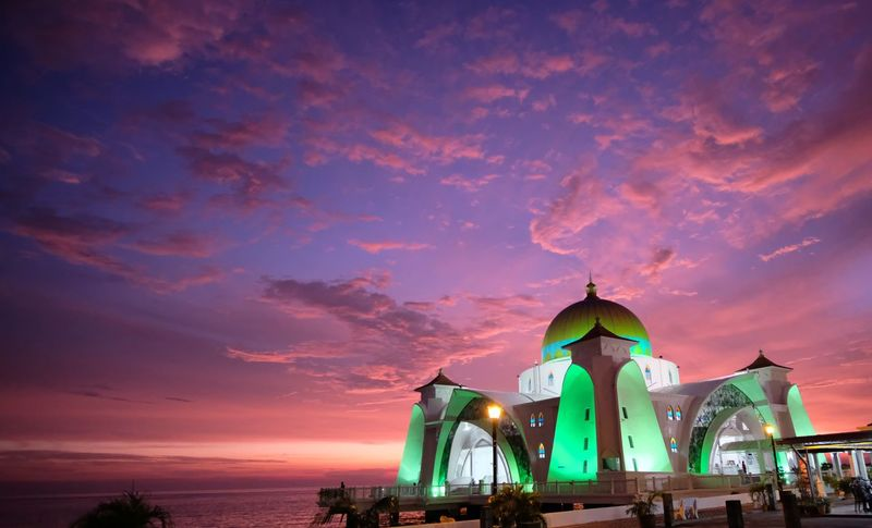 Amazing color of sunset at Strait Mosque of Malacca, Malaysia Strait Mosque Malacca Malaysia Nature Casanayafana Malacca Tourism Traveling Muslim Religion Landscape Strait Mosque Of Malacca Masjid Selat ASIA Wall Paper Casa Nayafana Sunrise Floating Mosque Glowing Travel Mosque Canvas Sunset Night Beach Sky Travel Destinations Sea Outdoors Vacations Architecture Water No People City