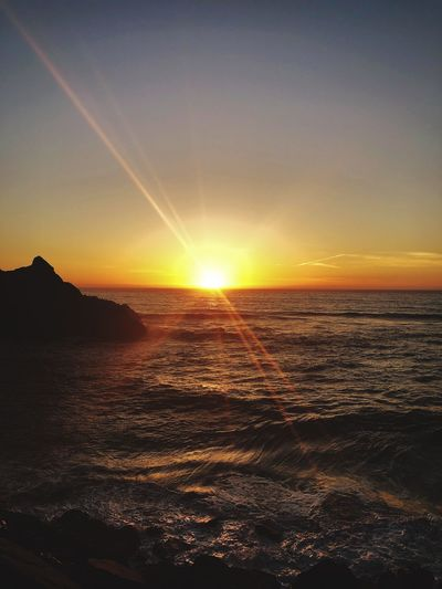 Sunset Sea Beauty In Nature Sun Scenics Nature Tranquility