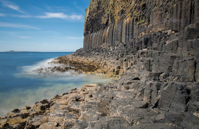 Nature Perspective Scotland Sky And Clouds Staffa Wave Basalt Basalt Columns Day Island Landscape Lee Filters Long Long Exposure Sea Sky Vulcanic Landscape