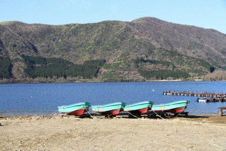 Rowingboat Rowboats Linedup Lake Ashi Lake Ashinoko Pretty Cute Boats Lake Water Scenic Scenics Nautical Vessel Outdoors Tranquil Scene Hakone Japan Thisisjapan Nature Beauty In Nature Mountain Day Beach Tree No People Sand Sky Lakeside EyeEmNewHere EyeEmNewHere EyeEmNewHere