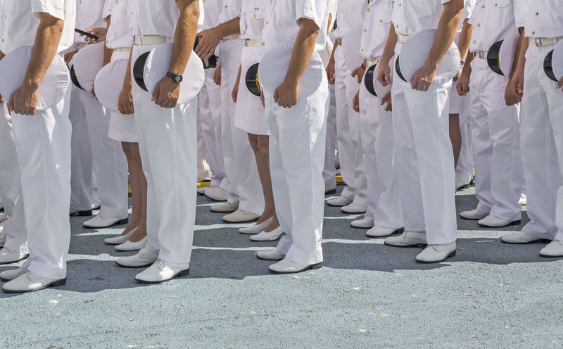 Army Background Body Part Celebration Ceremony Conformity Constanta Event Formation In A Row Marina Marine Men Military Military Life Outdoors People Person Romania Style Tourism Uniform Unrecognizable Person White Women