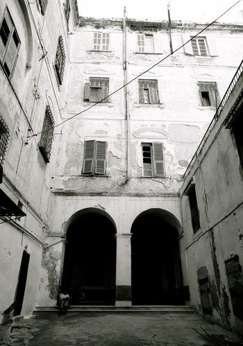 Arch Architecture Built Structure Demaged Medina #tunis #tunisia # Monochrome Palazzo Gnecco#Garibaldi Tunis Tunisia Windows