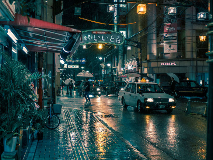 Hiroshima Cinematic Cinematic Photography Japan Japan Photography Nightphotography Architecture Building Exterior Built Structure Car City City Life Hiroshima Illuminated Night No People Outdoors Road Street Streetphotography Transportation Wet