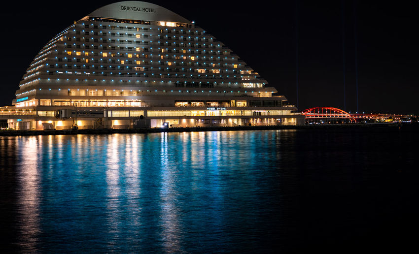 Architecture Built Structure Illuminated Night Building Exterior City Water Travel Destinations Waterfront Reflection No People Travel Sky River Office Building Exterior Modern Building Nature Outdoors Skyscraper Government Luxury