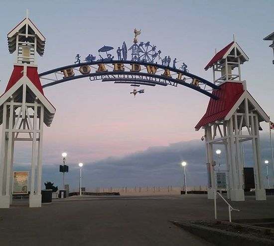 Christmas Wreaths are gone, means summer is almost here... Oceancitycool OceanCity Maryland Ocmd Boardwalk