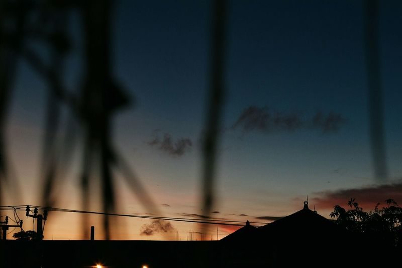 Night Silhouette Sky No People Sunset Built Structure Outdoors Architecture Illuminated Moon City Building Exterior Nature Beauty In Nature EyeEmNewHere Cloud - Sky Nature