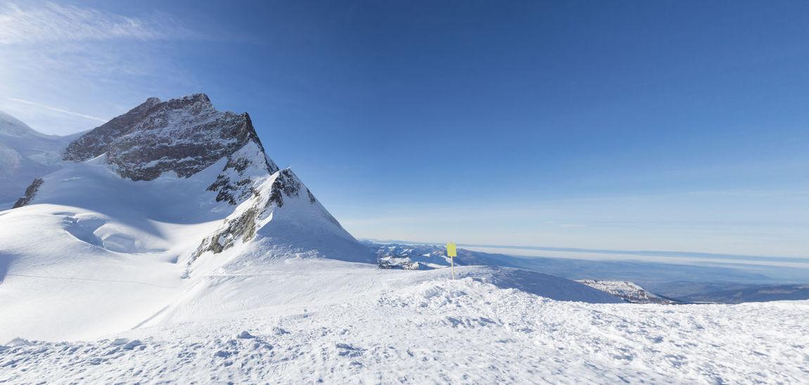 Jungfraujoch glacier snowcapped mountain range. Snow ❄ Switzerland Alps Tourist Attraction  Winter Cold Gracier Jungfraujoch Mountain Range Railway Ski Sky Snow Snowcapped Mountain Sphinx Viewpoint Switzerland Top Of Europe Viewpoint