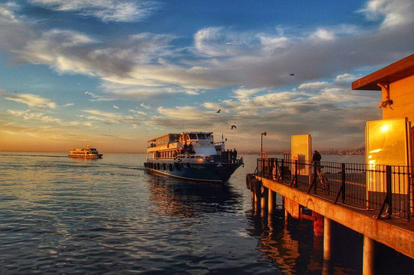 Büyükada, İstanbul.. Sunset Hanging Out Clouds Sky