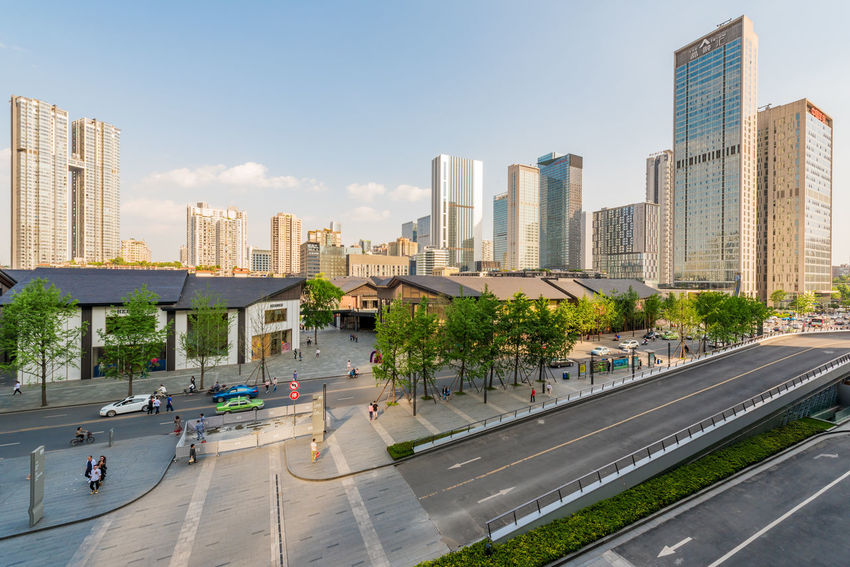 chengdu Taikooli Chengdu Architecture Building Building Exterior Built Structure City City Life Cityscape Day Financial District  Incidental People Landscape Modern Nature Office Office Building Exterior Outdoors Road Sky Skyscraper Taikooli Tall - High Transportation Urban Skyline