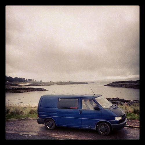 Vwt4 Vanlife Vwtransporter Scotland arisaig rain clouds