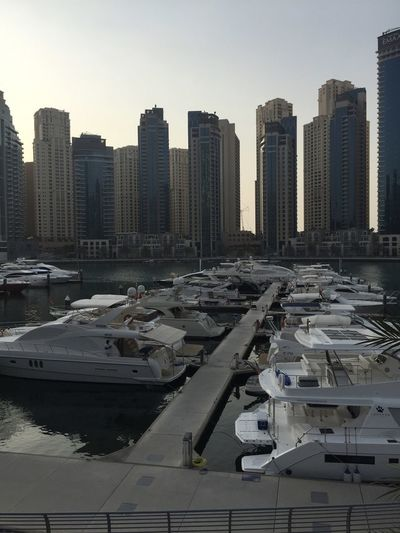 relaxing view Architecture Boat Building Exterior Built Structure City Cityscape Clear Sky Modern Transportation Urban Skyline Yacht