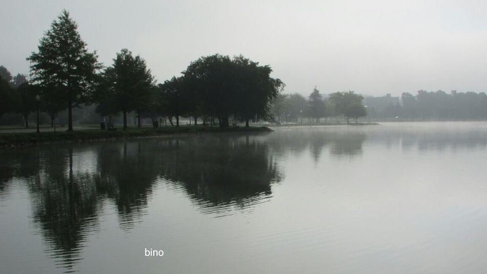 Foggy Morning Around The Lake Quiet And Eerie! Distant Background Beauty In Nature Stillness Lake Cadillac Pure Michigan
