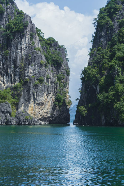 Beauty In Nature Cliff Day Mountain Nature No People Outdoors Physical Geography Rock - Object Rock Formation Scenics Sea Sky Tranquil Scene Tranquility Vietnam Halong Bay Water Waterfront