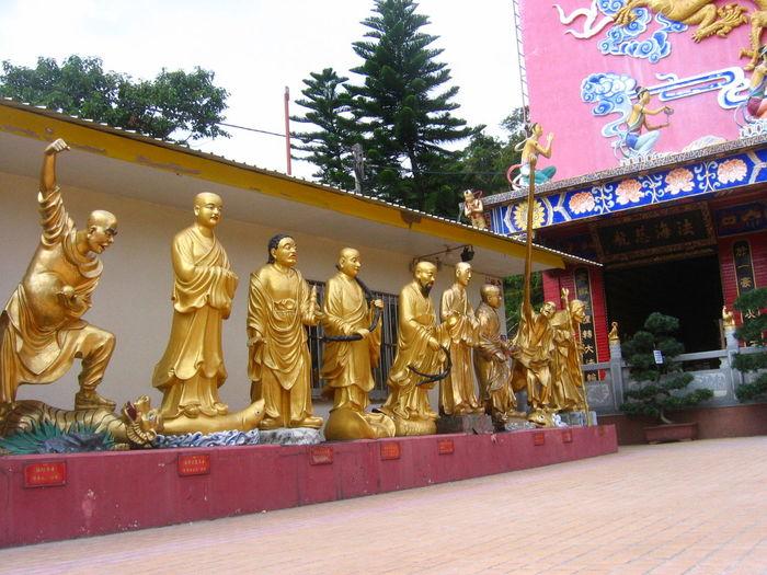 Ten thousand buddha Ten Thousand Buddha Monaster Buddha Buddhism Golden Sculpture Cultures Asian Culture Hong Kong Peace