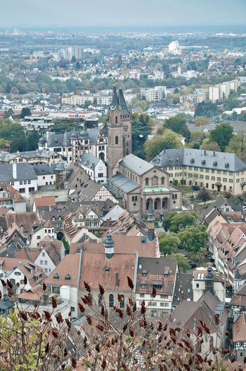 old town of weinheim Architecture Building Exterior Weinheim City Residential District Cityscape High Angle View Day Town Roof Tree Outdoors Aerial View TOWNSCAPE Built Structure