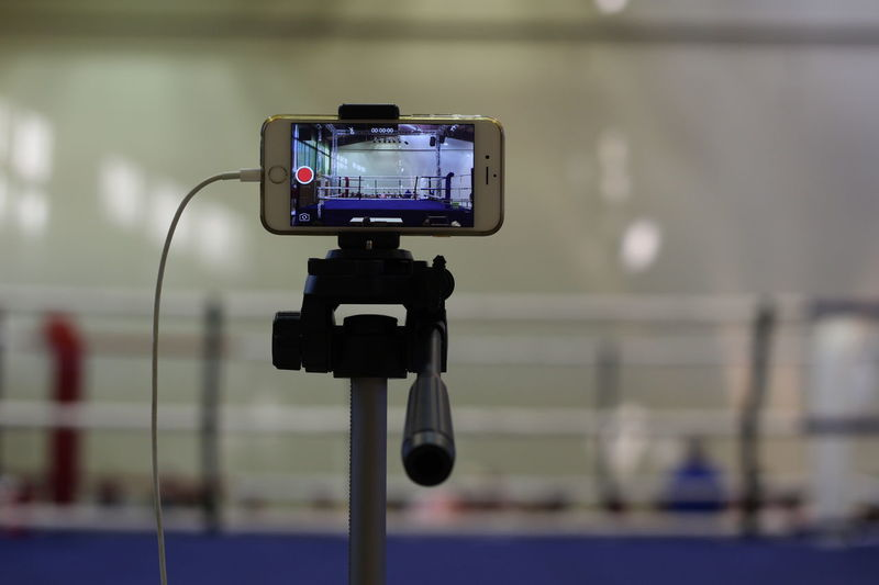 Boxing Ring Camera Camera - Photographic Equipment Close-up Communication Day Focus On Foreground Illuminated Indoors  Movie Camera No People Photographing Photography Themes Recording Studio Technology Television Studio