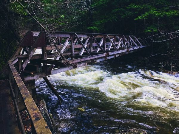 A roaring river in the Adirondacks. Springtime New York Adirondack Mountains Bridge - Man Made Structure Connection Water River Built Structure Motion Day Outdoors Nature
