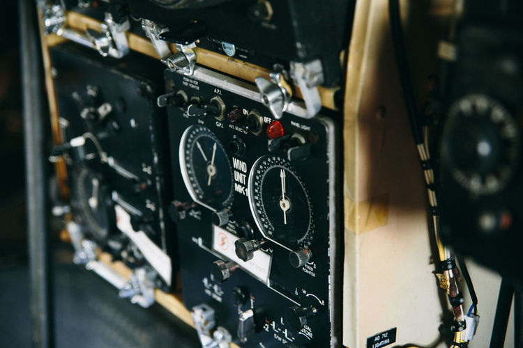 Aircraft Aviation Control Panel Dial History Military Airplane No People
