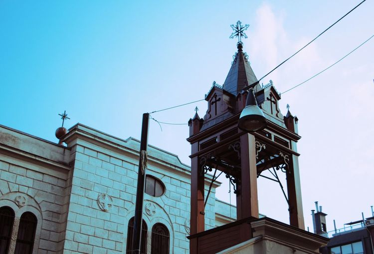 Low angle view of kadikoy church against sky