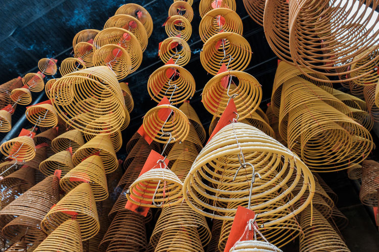 Close-up of spiral for sale in market