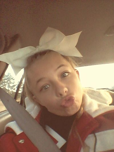 Being Crazy Cheerleader Going To A Game. Go Cardinals