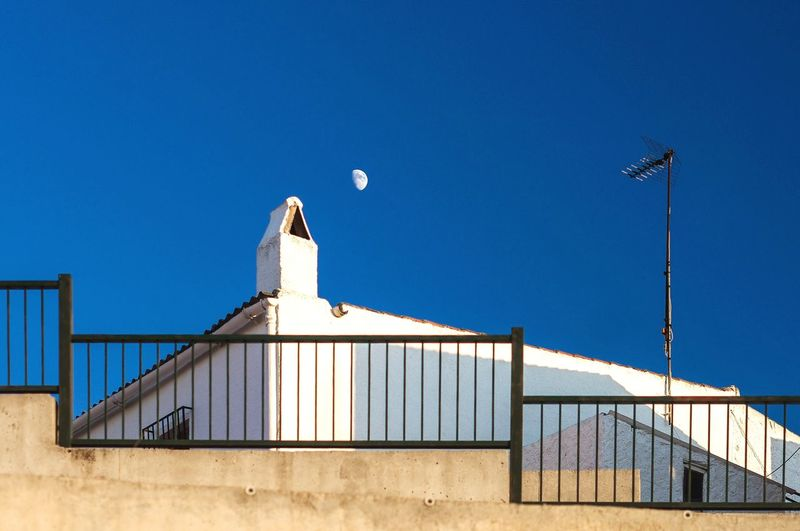 Untitled Moon Architecture Sky Built Structure Building Exterior Blue Low Angle View Clear Sky No People Day Building