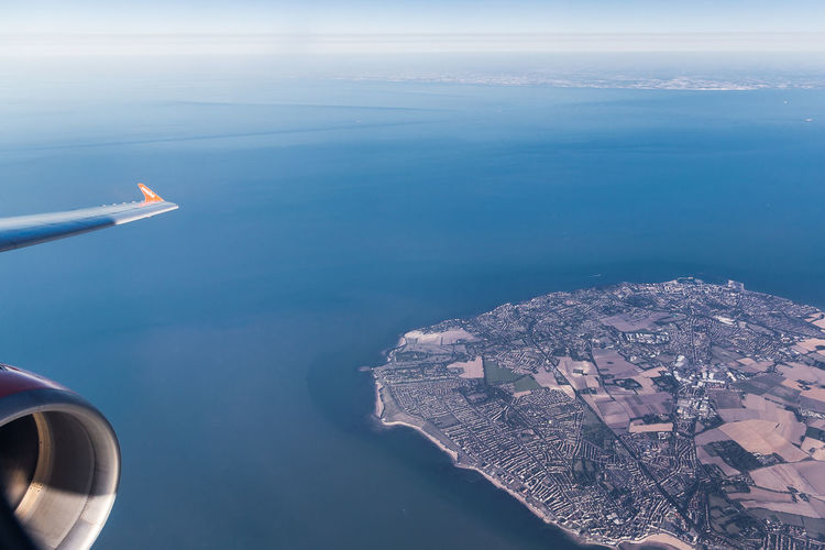 Aerial view of margate,uk