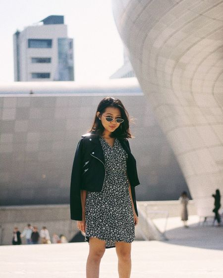 Exploring Dongdaeumun District One Person Fashion Clothing Beauty Real People Young Women Lifestyles Korea Seoul Dongdaemun Design Plaza Fashion Photography