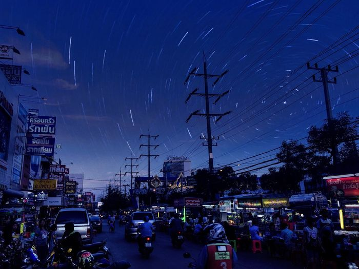 Thailand 200y Thailand Streed Food Night Sky City Architecture Mode Of Transportation Street Motor Vehicle