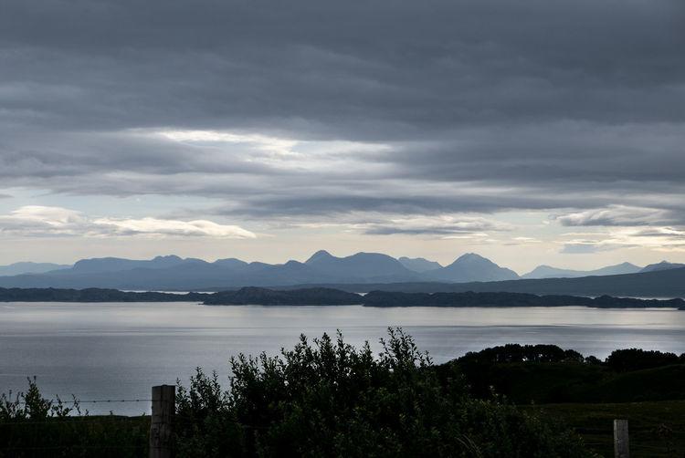 Water Tranquil Scene Scenics - Nature Nature Outdoors Cloud - Sky Dark Sky Idyllic Mountain Lake Mountain Range