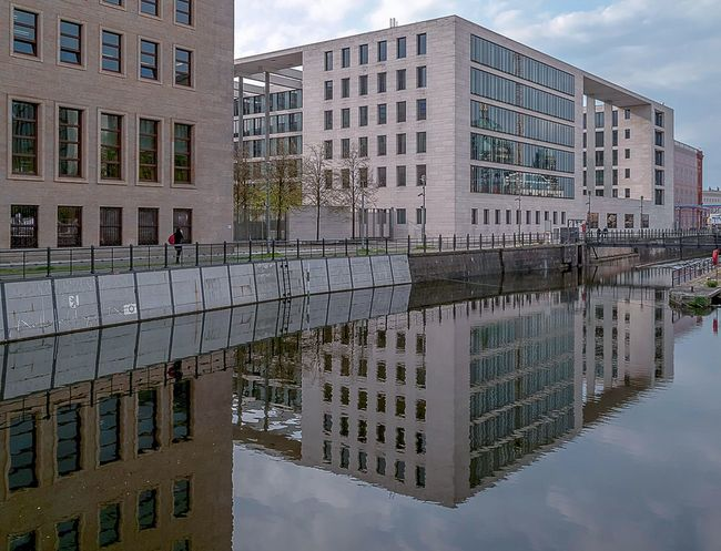 Same City, Different Reflections Berlin My Fuckin Berlin Berliner Ansichten Reflection Water Reflections Architecture Government Building Berlin Mitte Kupfergraben Clouds And Sky