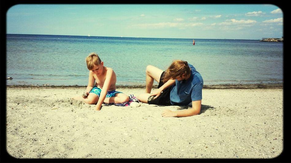 Sea Sandcastles Relaxing Sunshine