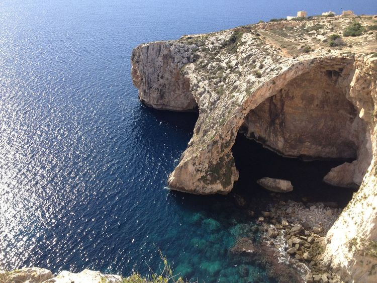 Beauty In Nature Blue Close-up Day Earth Heart Love Malta Memories Nature Nature No People Outdoors Panorama Photo Photography Rock - Object Scenics Sea Sky Textured  Water