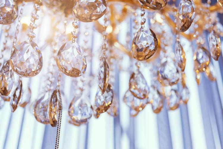 Full frame shot of chandelier