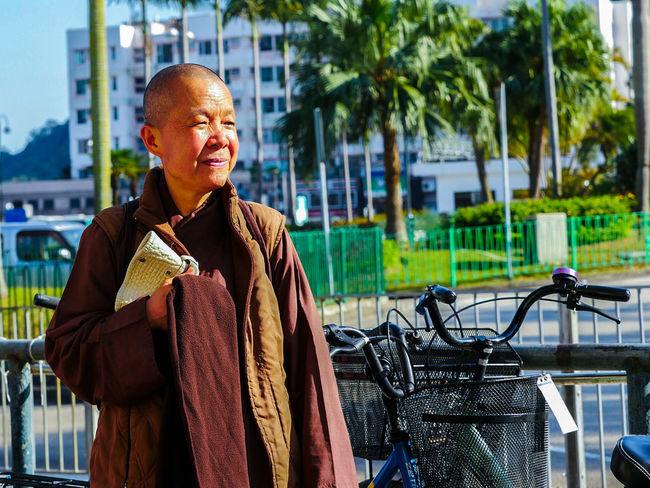 Outdoors Day HongKong Monk  Daylight Daylight Photography Hongkonger Potrait Streetphotography LUMIX GX8 Lumix Lantau