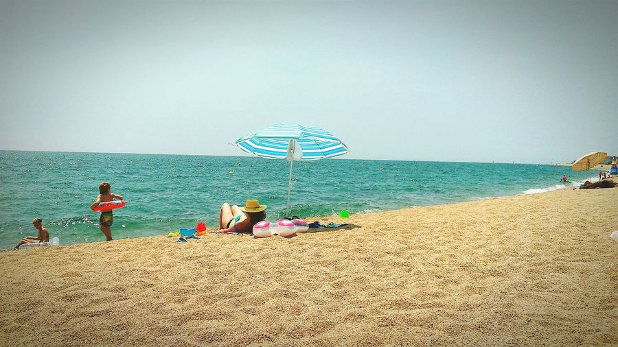 The beach in the Costa Brava,Spain. Relaxing Taking Photos Hi! Holidays Happy Holidays