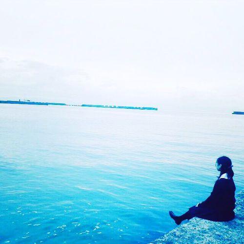Japanese Girl Japan's Ocean View Seascape