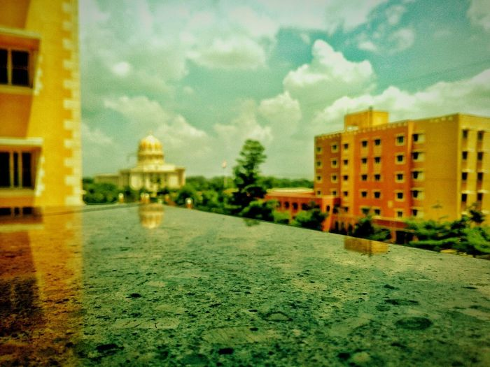 Architecture Sky No People Outdoors Day Blurred PhonePhotography at Manipal University Jaipur