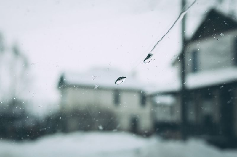 Drops of water Windshield Car Drop Wet Window Water Glass - Material Transparent No People Focus On Foreground Nature Close-up Rain Day Selective Focus Winter Motion Cold Temperature Rainy Season RainDrop Glass