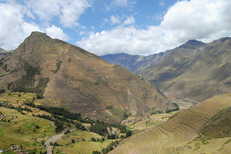 Sacred Valley Peru Mountain Pisac Sacred Valley Valley