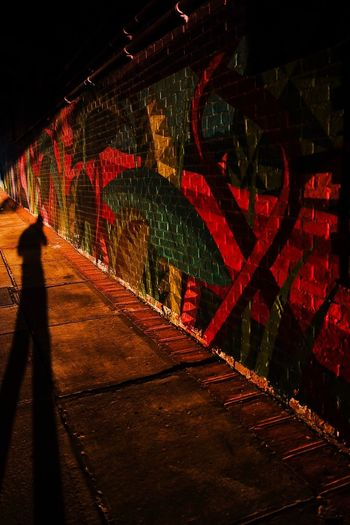 - Shadow Play Eye4photography  EyeEm Gallery Streetphotography Nycphotographer eyeemphoto EyeEm Best Shots Shadowplay Travcimages Night Illuminated Direction The Way Forward Architecture Road Built Structure Street Outdoors The Street Photographer - 2018 EyeEm Awards