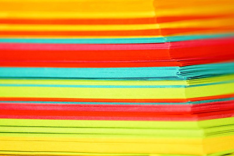 colorful notes Abstract Backgrounds Close-up Day Multi Colored No People Paint Red